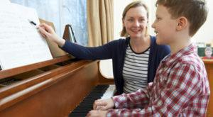 teaching piano at home